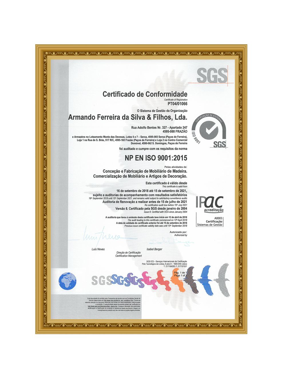 SGS – FURNITURE QUALITY CERTIFICATION